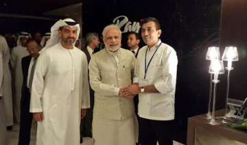 sanjeev kapoor serves a treat for pm modi during...