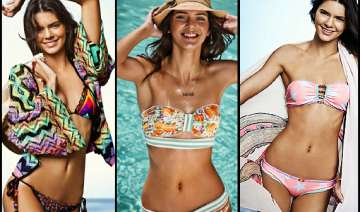 kendall jenner displays her curves for swimwear...