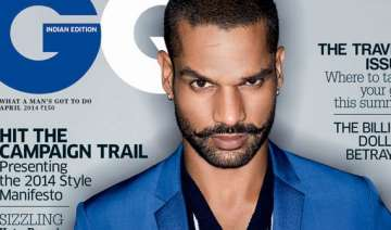 shikhar dhawan on men s fashion magazine cover...