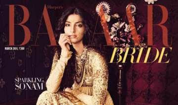 sonam kapoor sparkles on bridal magazine s cover...