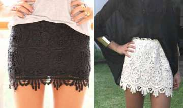 update spring wardrobe with lace skirt spring...