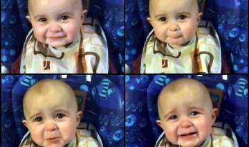 cute little baby goes emotional while listening...