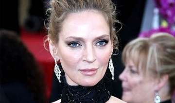 having a baby in forties is stunning uma thurman...