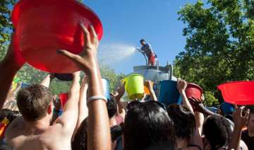 annual water fight festival celebrated in spain -...