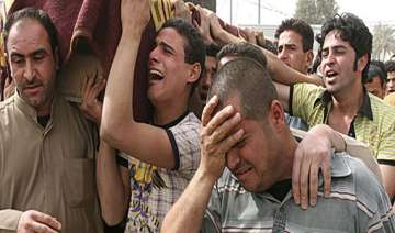 baghdad market bombs kill 14 wound more than 100...