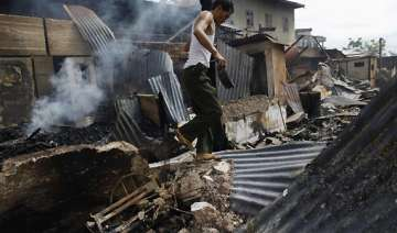 buddhists in myanmar torch muslim homes and shops...