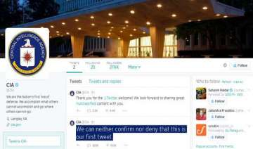 cia on twitter handle cia first tweet becomes an...