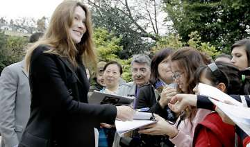 carla bruni makes first post baby appearance -...