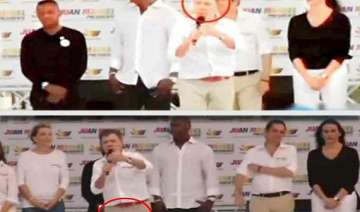 colombian president urinates in his pants on live...