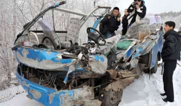 eight killed in china road accident - India TV
