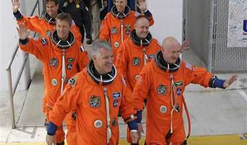 endeavour astronauts make history above earth -...