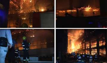 firefighters tackle massive blaze at tobacco...