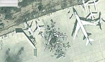 google maps satellite images show a plane blown...