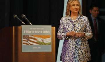 hillary clinton urges india to be more assertive...