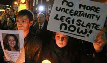 hundreds hold protest march outside irish...