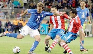 defending champions italy draw 1 1 with paraguay...