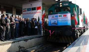first silk road train carrying chinese goods...