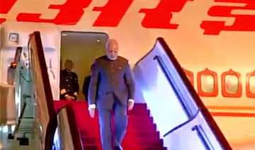 pm narendra modi arrives in shanghai - India TV