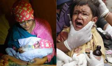 devastated nepal witnesses births and deaths in...