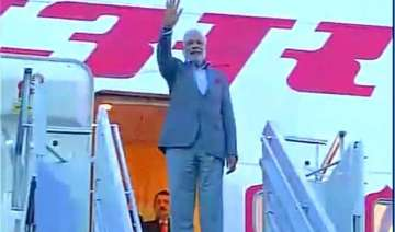 pm modi leaves for new delhi after three nation...
