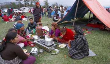 nepaldevastated life slowly moving to normalcy in...