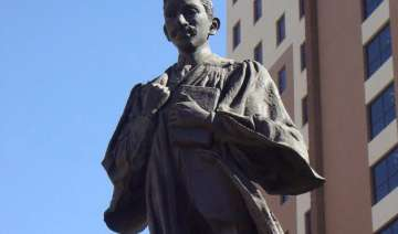 south africa mahatma gandhi statue defaced by a...
