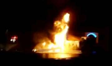 60 ft christ statue in us goes up in flames as...
