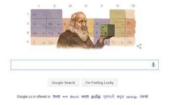 google doodles father of periodic table on birth...