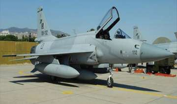 pakistan air force inducts indigenously built jf...
