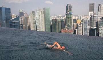 world s largest outdoor pool at 55 storeys up -...