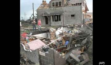 tornado rips down entire house in us as couple...