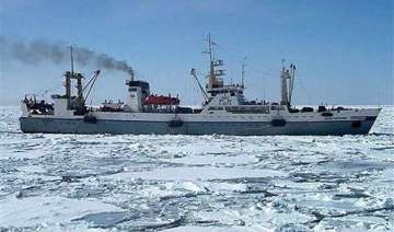 russian trawler sinks quickly in icy water at...