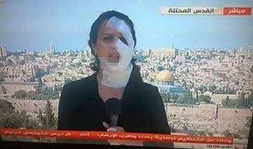 injured by a grenade this journalist reported...
