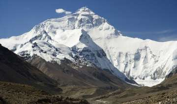 mountaineers returning nepal to climb mount...