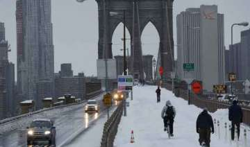 snowstorm travel ban lifted in new york - India TV