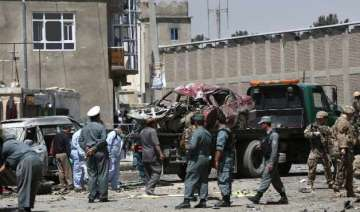 suicide bomber strikes foreign convoy near kabul...