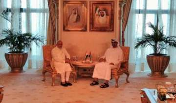 pm modi holds talk with uae crown prince - India...