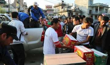 live relief trucks looted in nepal death toll may...