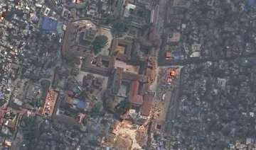 satellite photos of nepal before and after the...
