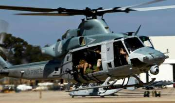 us marine helicopter with 8 people on board...