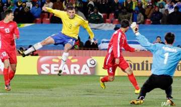 brazil beats north korea 2 1 in their wcup opener...