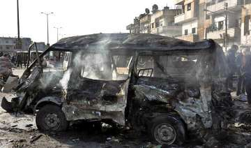 syrian tv two blasts in the city of homs 32...