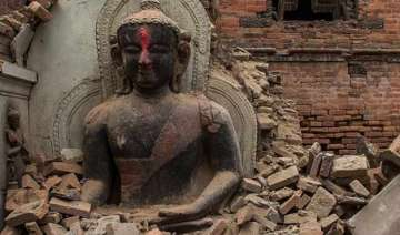 monuments partially damaged by nepal earthquake -...