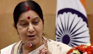 sushma swaraj in russia for inter governmental...