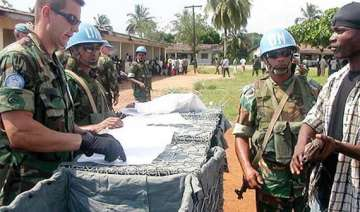 un s liberian mission with indian policing...