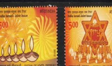 india and israel release stamps to mark 20 years...