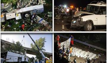 tourist bus falls in italy watch rescue operation...