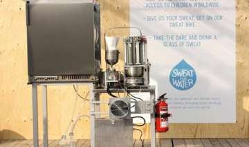 machine turns sweat into drinking water in sweden...