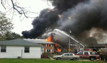navy jet crashes into us apartments pilots eject...
