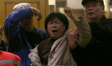 relatives clash with police in china seek truth...